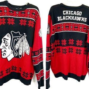Chicago Blackhawks Holiday Ugly Christmas Sweater